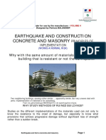 Earthquake and Construction Concrete and Masonry