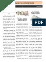 B΄ Class English Journal