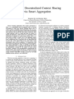 Efficient Decentralized Context Sharing via Smart Aggregation