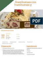 Tronco de Frambuesas Con Crema de Frambuesas y Pistachos - Nestlé Cocina
