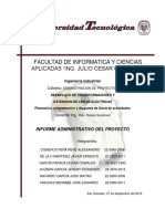 SEGUNDA Entrega Del Proyecto, Planeacion, Gantt de Actividades