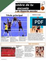 Modelo Para Boletin Deportivo