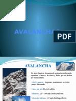 Avalancha Diapositiva
