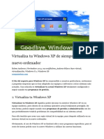 Virtualizar Xp de PC a VBox