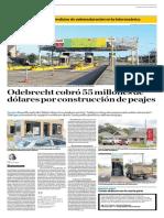 Odebrecht cobró US$55 millones por construcción de peajes