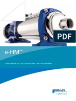 STAINLESS STEEL HORIZONTAL MULTI-STAGE PUMPS