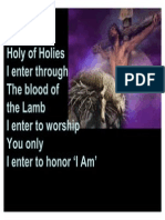 I Enter the Holy of Holies