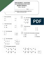 Soalan Ujian Muzik tahun 5