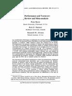 Job Performance and Turnover