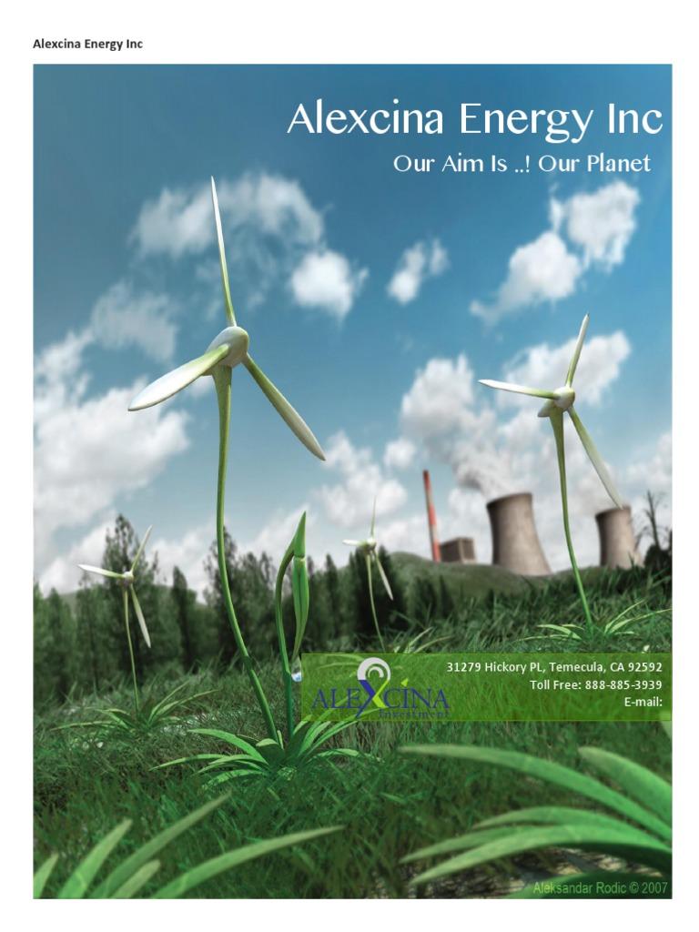 Alexcina Energy Profile   Petroleum   Natural Gas