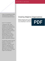 2008 - Creating Adaptive Organizations 080924