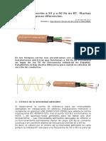 Prysmian___Cálculos de Sección a 50 y a 60 Hz en BT