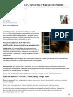 Blogpsicologia.com-La Memoria Definición Funciones y Tipos de Memorias