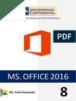 8. Ms Excel - Avanzado