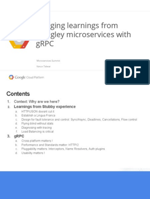 Bringing Learnings from Googley Microservices with gRPC