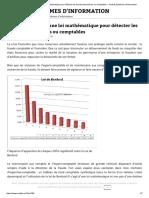 La Loi de Benford _ Une Loi Mathématique Pour Détecter Les Fraudes Financières Ou Comptables – Audit & Systèmes d'Information