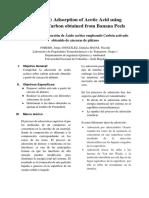Informe Práctica Especial. Carbón Activado. Grupo 1