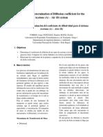 Informe VII. Coeficiente de Difusividad. Grupo 1