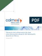 Valoracion de La Observacion de Clase Como Tecnica de Evaluacion Del Desempeño Docente Mexico