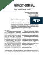Tratamento Cirurgico de Anquilose Tempomandibular Utilizando o Disco Articular Com Material de Interposição