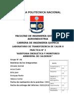 Auditoria Energética y Monitoreo Ambiental de Calderos