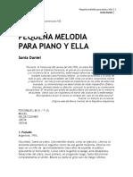 Pequeña Melodía Para Piano y Ella