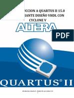 INTRODUCCION A QUARTUS II 15.0  ® -  MEDIANTE DISEÑO VHDL CON CYCLONE V