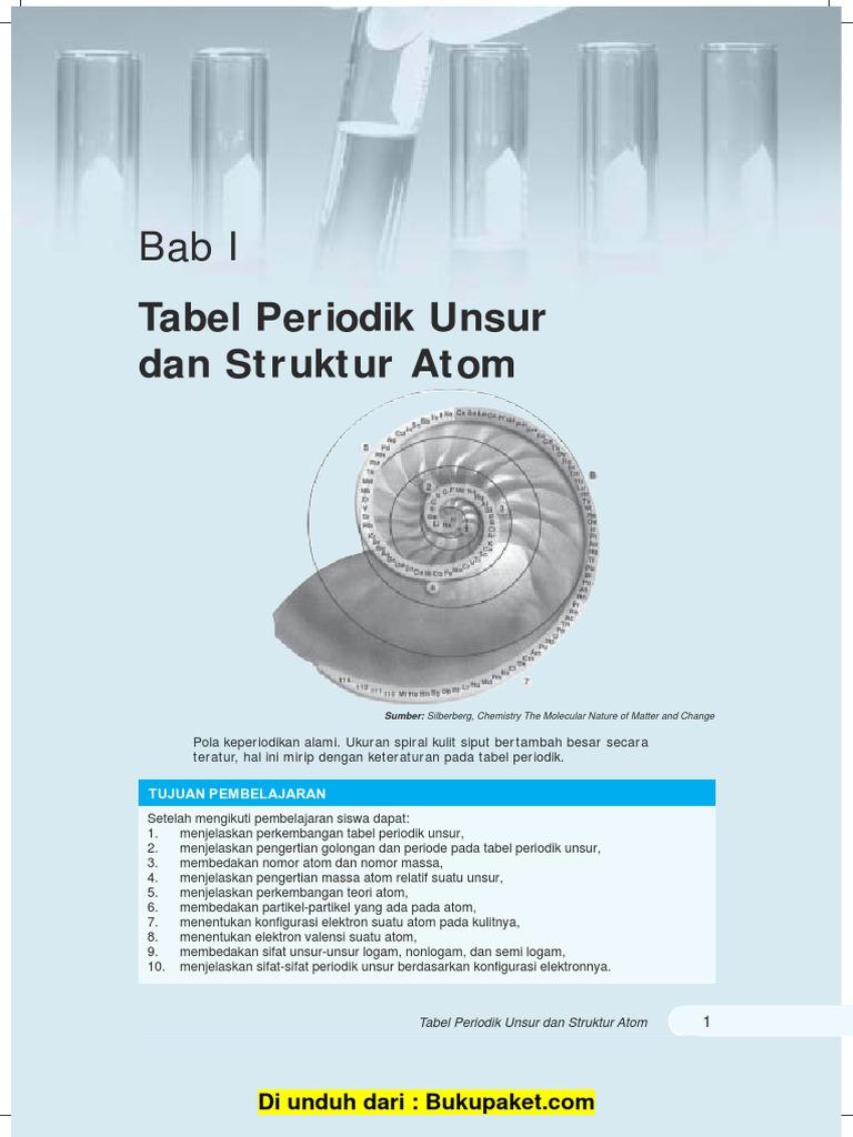 bab 1 tabel periodik unsur dan struktur atompdf - Tabel Periodik Ukuran Besar