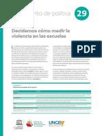 UNESCO Cómo Medimos La Violencia en La Escuela