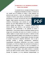 """Las Drogas en Venezuela y Ley Orgánica de Drogas """"Directiva Oafanb"""""""