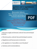 Electricity Deregulation and Re-regulations in Asia, Philippines in Particular