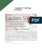 Encíclica Laudato Si 50 Frases