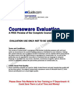 excel_tutorial_2000.pdf | Microsoft Excel | Areas Of ...