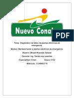 Diagnóstico de Fallas de Plantas Eléctricas de Emergencia. Recuperaciòn. Misael Alvarado Salazar 5102