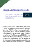 How to Uninstall DriverToolkit