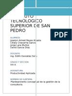 1.5 Planteamiento Conceptual de La Gestion de La Consultoria