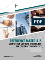 Competition Law Case Analysis for the Construction Industry
