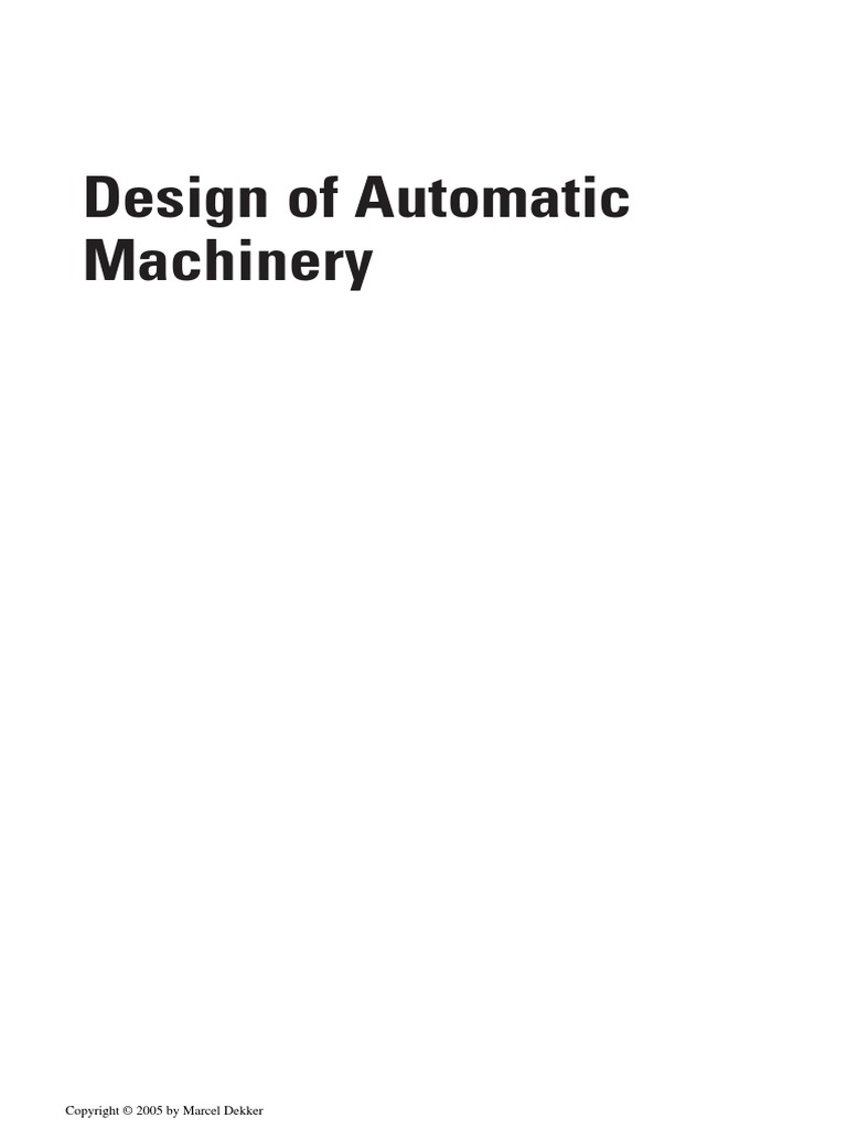 Design of automatic machinerypdf automation mechanical engineering fandeluxe Image collections