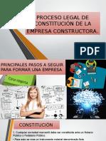 Proceso Legal de Constitución de La Empresa Constructora