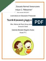 Desarrollo del pensamiento y lenguaje en la infancia