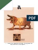mythical creature Alphabat 'A'