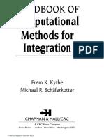 Prem K. Kythe, Michael R. Schaferkotter. Handbook of Computational Methods for Integration