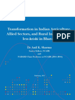 1428292217NCAER NABARD Paper - Tranformation in Indian Agriculture, Allied Sectors... (1)