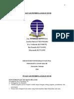 Evaluasi Pembelajaran Di Sd (Kelompok)