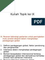 Topik Ke Ke IX (Kuliah Ke 10)
