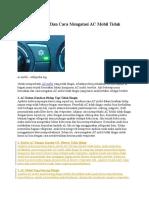 Mekanisme Dan Cara Kerja Ac Mobil