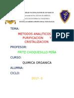 Informe#3 Quimica Organica m.a.d.purificacion