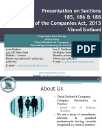 Vinod Kothari -Presentation on Sections 185_186_and 188 - Companies Act 2013 (1)