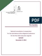 Post 2015 Agenda National Consultation the Gambia_ Kigali_FINAL