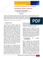Decade Developments of Rotary Compressor